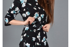 wholesale-clothing-turkey-cotton-women-dress-fashion-flower-271 Lacivert Desenli