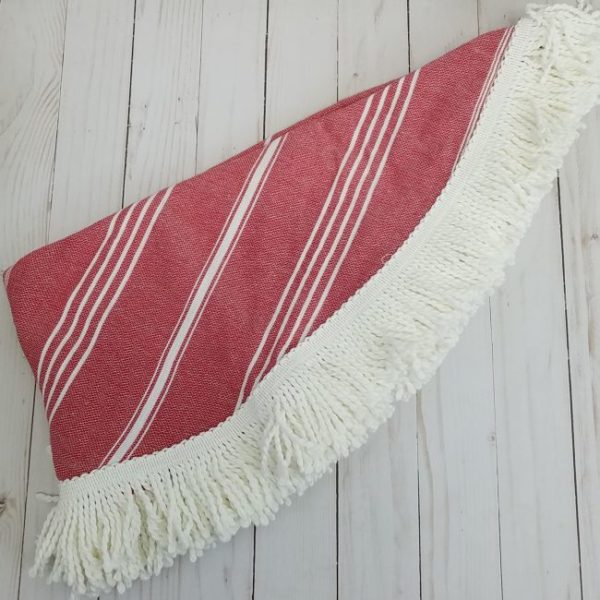 round red color turkish peshtemal beach towels cotton thin lightweight sand repellent online cheap best bath sheet1 600x600 - Lekaro Peshtemal