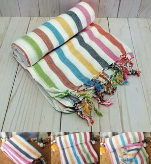 turkish towels wholesale round beach bath towel supplier hammam cotton made turkey blanket summer fashion product - Medue Peshtemal